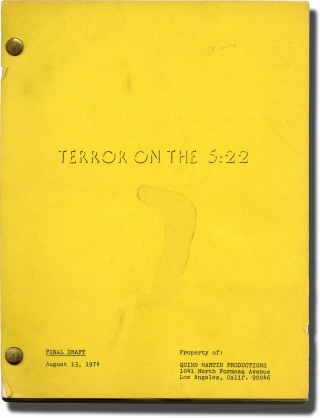 Panic on the 5:22 [Terror on the 5:22] (Original screenplay for the 1974 television film). Harvey...
