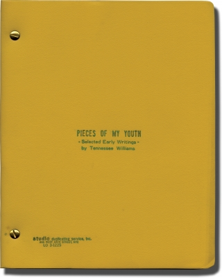 Pieces of My Youth: Selected Early Writings (Original manuscript for an unpublished collection)....