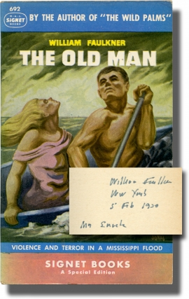 The Old Man (First Separate Edition, inscribed by Faulkner in 1950 to his publisher). William Faulkner.