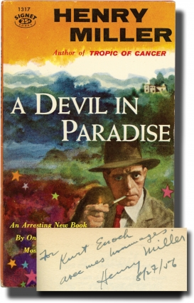 A Devil in Paradise (First Edition, inscribed by the author in 1956 to his publisher). Henry Miller