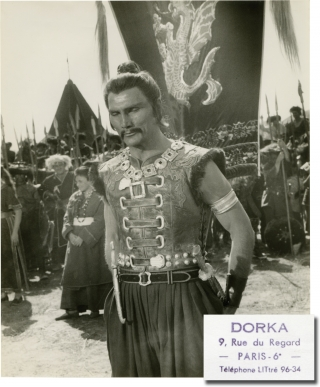 The Mongols [Les Mongols] (Collection of 9 original photographs from the 1961 film). André...