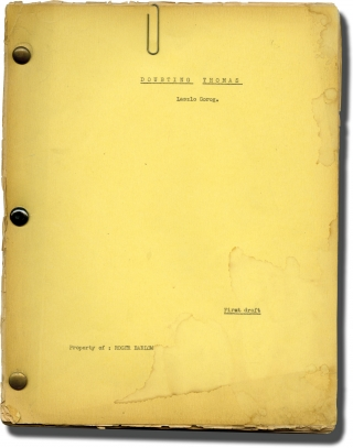 Doubting Thomas (Original screenplay for an unproduced film). Laszlo Gorog, screenwriter