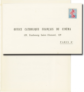 Grand Prix de L'O.C.F.C 1961 (Original French invitation for the 1961 award ceremony). Rene Clair