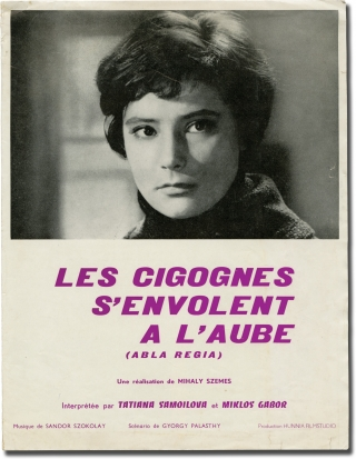 Alba Regia [Les cigognes s'envolent a'laube] (Original French pressbook for the 1961 film)....