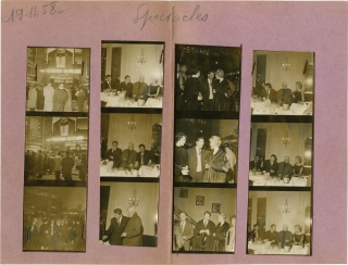 The Possessors [Les grandes familles] (Two original contact sheets from the premiere of the 1958...