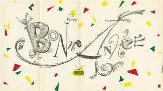 "Service de Press ""Bonne Annee"" [Happy New Year] (Original promotional brochure, circa 1950s)...."