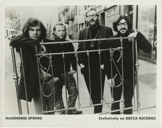 Six photographs of Folk Rock band McKendree Spring (Six original photographs from the archive of...