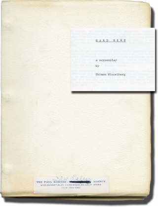 Hard News (Original screenplay for an unproduced film). Shimon Wincelberg