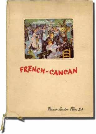 French Cancan [French-Cancan] (Original program for the 1955 film). Jean Renoir, Francoise Arnoul...