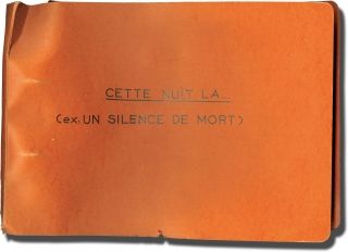 Night Heat [Cette nuit la] (Collection of 71 original keybook contact sheets from the 1958 film)....