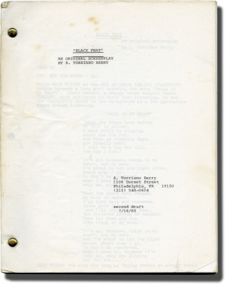 Black Frat (Original screenplay for an unproduced film). S. Torriano Berry