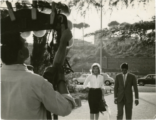 L'Eclisse (Original photograph from the set of the 1962 film). Michelangelo Antonioni, Monica...
