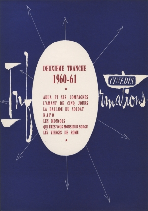 Deuxieme Tranche, 1960-61 (Original press release folder). Cinedis