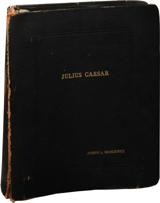 Julius Caesar (Director's keybook binder for the 1953 film, containing 86 photographs). Joseph L....