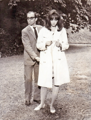 Made in the U.S.A. (Original photograph of Jean-Luc Godard and Ana Karina on the set of the 1966...
