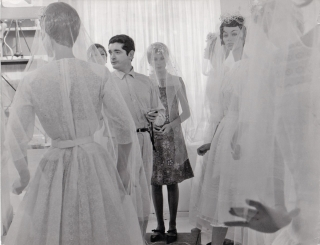 The Umbrellas of Cherbourg (Original photograph from the set of the 1964 film). Jacques Demy,...