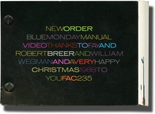 New Order Blue Monday Manual Video (First Edition). New Order, Robert Breer, William Wegman,...