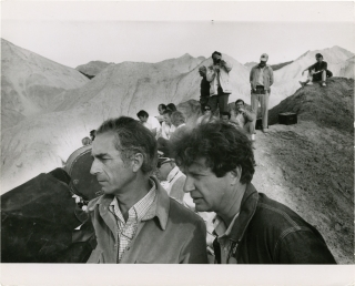 Zabriskie Point (Original double weight photograph from the set of the 1970 film). Michelangelo...