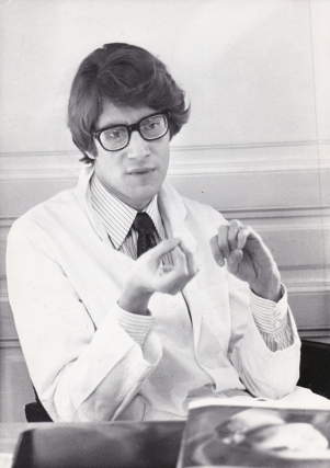 Original photograph of Yves Saint-Laurent, circa 1970s. Yves Saint-Laurent, subject