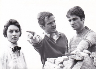Two English Girls (Original photograph from the set of the 1971 film). Truffaut Francois, Henri-Pierre Roche, Jean Gruault, Kika Markham Jean-Pierre Leaud, Sylvia Marriott, Stacey Tendeter, screenwriter director, novel, screenwriter, starring.