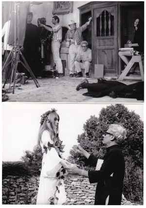 The Demise of Father Mouret [La Faute de L'Abbe Mouret] (Two original photographs from the 1970 film). Georges Franju, Emile Zola, Sandro Continenza Jean Ferry, Gillian Hills Francis Huster, Margo Lion, Andre Lacombe, screenwriter director, novel, screenwriter, starring.