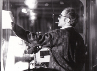 Detective (Original photograph of Jean-Luc Godard on the set of the 1985 film). Jean-Luc Godard,...