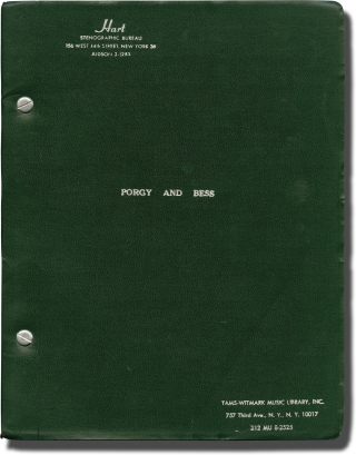 Porgy and Bess (Original script for the 1964 play). Jean Dalrymple, Dorothy Heyward, Ira...