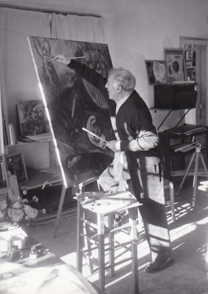 Two original photographs of Marc Chagall, 1957