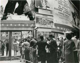 """Two original photographs from French screening of """"Once Upon a Time in The West"""" [Il Etait Une Fois Dans L'ouest], 1970"""