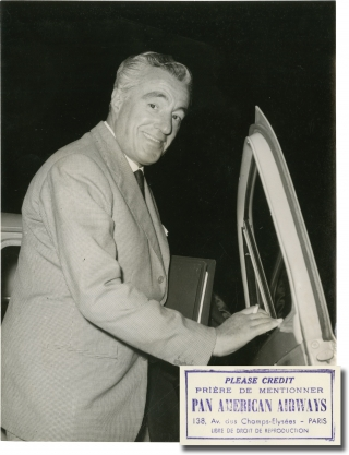 Fast and Sexy [Anna de Brooklyn] (Original press photograph of Vittorio de Sica from the 1958...