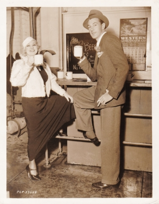 Original photograph of Gary Cooper and Mae West, 1933. Gary Cooper, Mae West, subjects