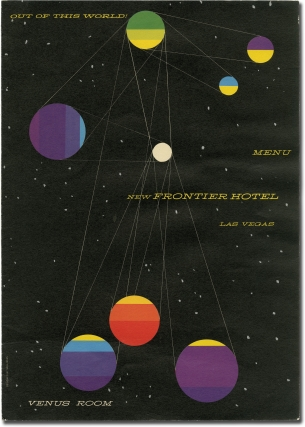 Menu for the New Frontier Hotel's Venus Room in Las Vegas, circa 1950s. New Frontier Hotel, Saul Bass, designer.