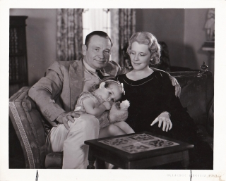 Original photograph of Wallace and Rita Beery with their daughter Carol, 1932. Wallace Beery,...