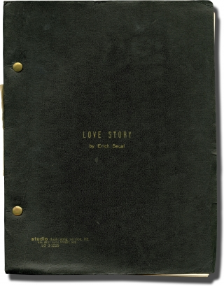 Love Story (Original screenplay for the 1970 film). Arthur Hiller, Erich Segal, Minsky Howard G, Ryan O'Neal Ali MacGraw, director, screenwriter novel, producer, starring.