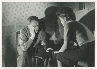 Antoine and Antoinette (Original photograph from the set of the 1947 film). Jacques Becker,...