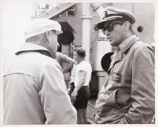 On The Beach (Original press photograph from the set of the 1959 film). Stanley Kramer, Nevil...