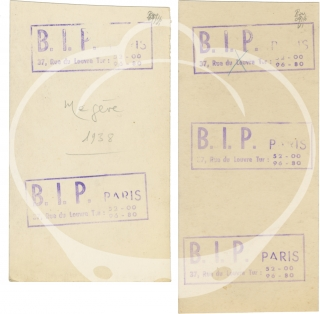 Two contact strips with five images of Josephine Baker and her husband Jean Lion, circa 1938