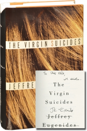 The Virgin Suicides (First Edition, inscribed to author Chris Offutt). Jeffrey Eugenides