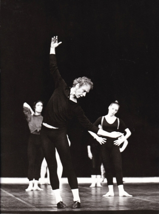 Original photograph of Merce Cunningham, 1970. Merce Cunningham, subject.