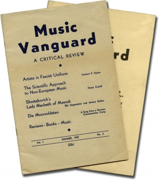 Archive of the complete two-issue run of Music Vanguard: A Critical Review. Ammon Balber, Charles...