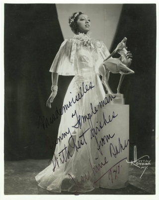 Original publicity photograph of Josephine Baker for the 1936 Broadway musical, Ziegfeld Follies,...