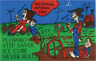 Archive of 170 QSL cards for CB [Citizens Band] radio operators, circa 1970s