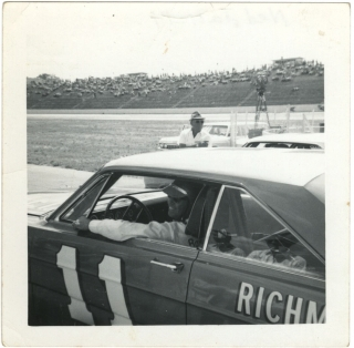 Archive of 40 vernacular photographs of the NASCAR World 600, 1965