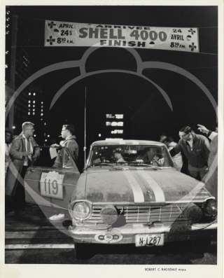 Archive of 20 photographs of the Shell 4000 Rally, 1964