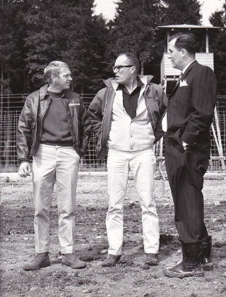 The Great Escape (Original photograph from the set of the 1963 film). John Sturges, Paul...