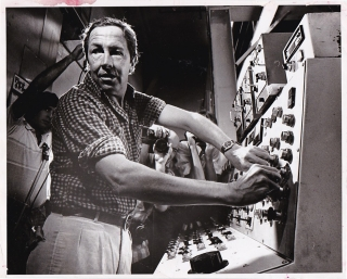 Original photograph of Robert Rauschenberg, 1979. Robert Rauschenberg, John Doman, subject,...