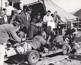 The Professionals (Original photograph from the set of the 1966 film). Richard Brooks, Frank O'Rourke, Lee Marvin Burt Lancaster, Claudia Cardinale, Woody Strode, Robert Ryan, Jack Palance, screenwriter director, novel, starring.