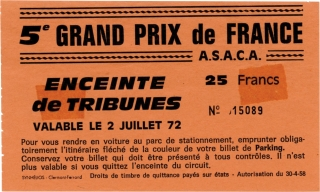 Archive of 19 vernacular photographs of the French Grand Prix, 1972