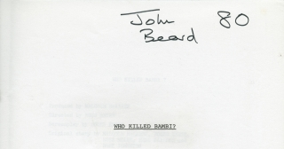 Who Killed Bambi? (Original screenplay for an unproduced film). Russ Meyer, Roger Ebert, Steve...