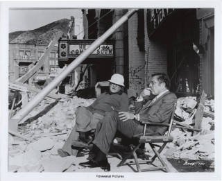 Earthquake (Three original photographs from the set of the 1974 film). Mark Robson, Mario Puzo...